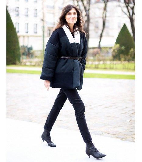 @Who What Wear - Puffy coats are a prime candidate for belting. Notice how Alt's belt gives shape to her oversized Isabel Marant puffer?  Image courtesy ofStyle Du Monde