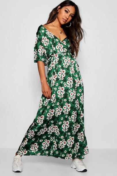 Cap Sleeve Shirred Waist Floral Maxi Dress Inspiring Clothes