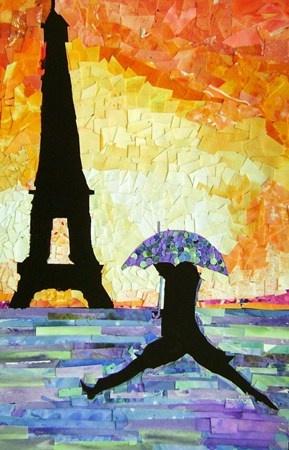 Painted paper collage: Art Lessons, Art Museums, Art Journals, Lisa456 Art, Artsonia Art, Art Crafts Trinket, Mixed Media Art, Paper Collage, Art Projects
