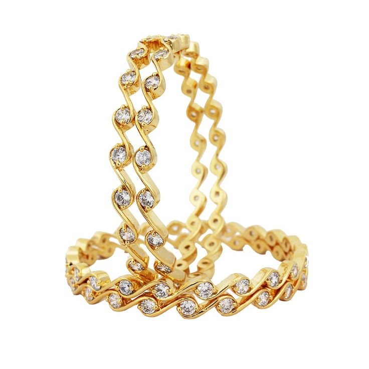 SthriElite Gold Plated CZ Bangle