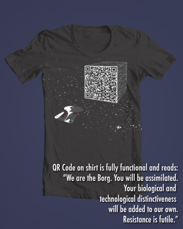 Cool Shirt Design: Resistance is futile! | Geeks are Sexy Technology News.  I need this.  Now.