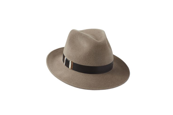 The Amber Trilby Collection | Mink | Leather & Partridge Feather Band  www.penmayne.com #trilby #hats #accessories