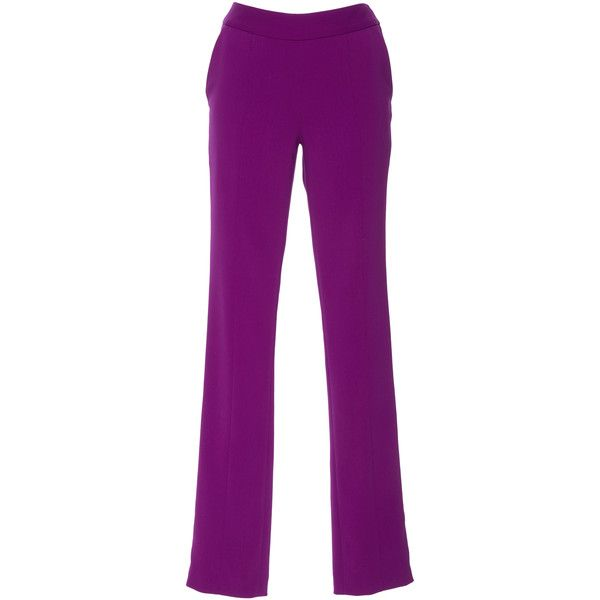 Seamed Skinny Pant | Moda Operandi (14,265 MXN) ❤ liked on Polyvore featuring pants, pant, skinny leg trousers, skinny leg pants, purple skinny pants, skinny trousers and skinny fit trousers