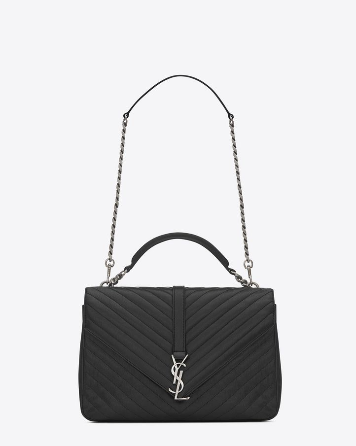 saintlaurent, CLASSIC Medium COLL��GE MONOGRAM SAINT LAURENT BAG IN ...