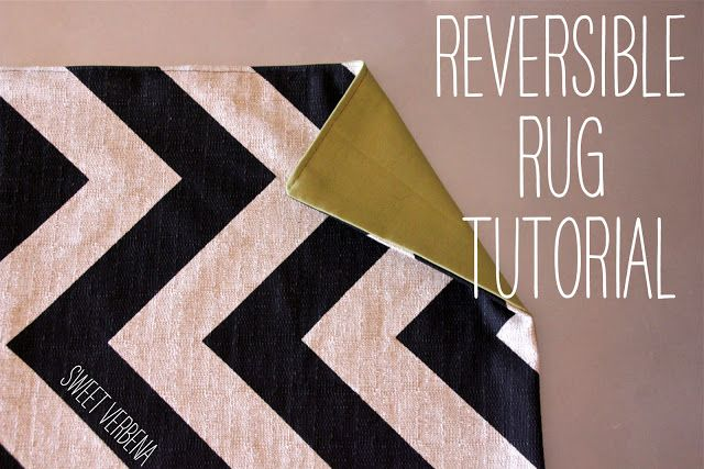 How to make a rug from upholstery fabric! I love the look of a rug under the dining table, but have always thought it too impractical. Now I can make my own and throw it in the wash when it needs it!