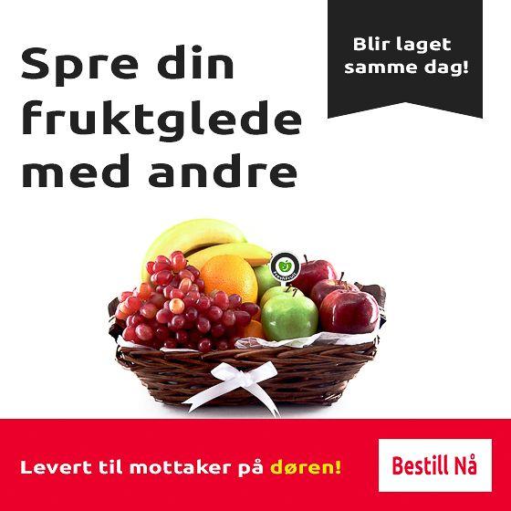 Gavekurver fylt med fersk frukt, levert på døren! - fruktkurv - gavekurv - FreshFruit
