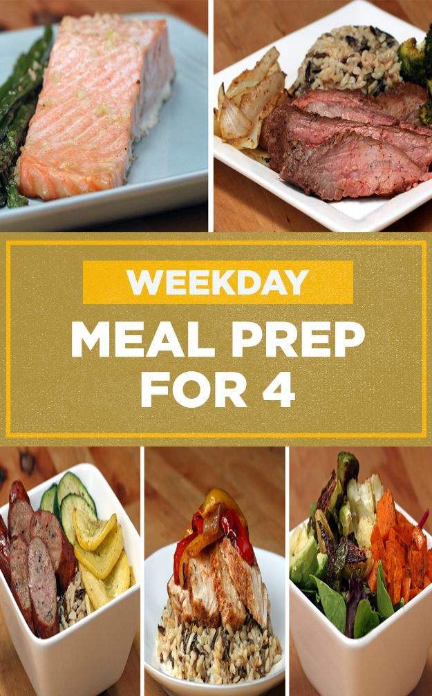 Here's how you can meal prep 5 different meals for family this weekend! ✨