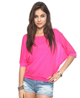 Pink slouchy top - Forever21