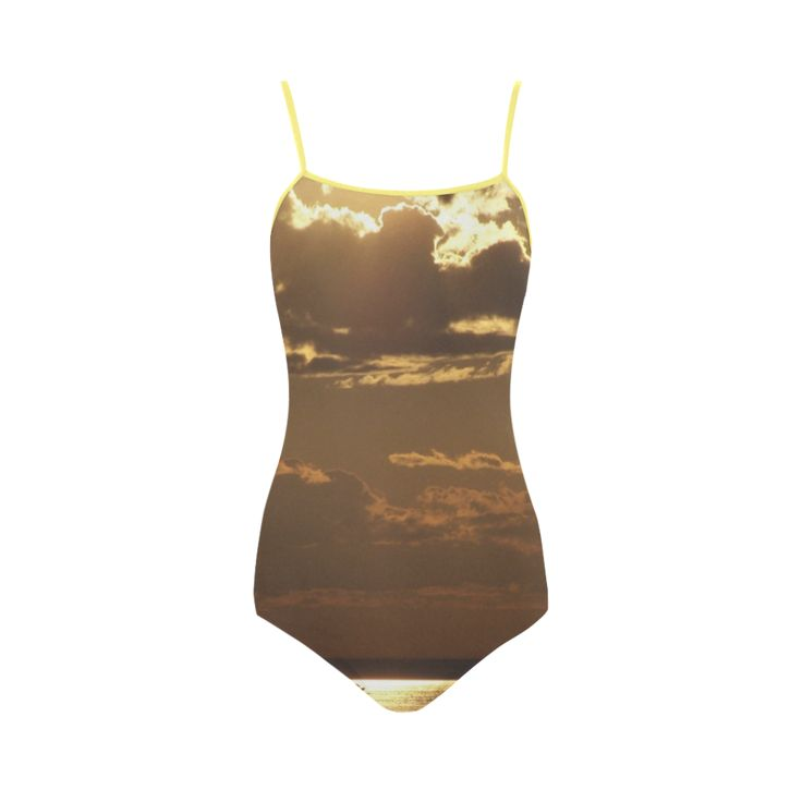Awesome Sea Scene Strap Swimsuit.