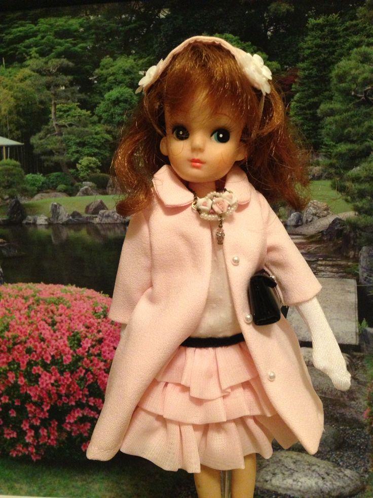 Lica chan in Japanese garden in fall.