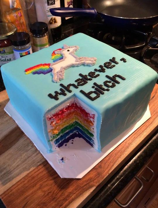 Sassy Unicorn Flavored Cake  // funny pictures - funny photos - funny images - funny pics - funny quotes - #lol #humor #funnypictures