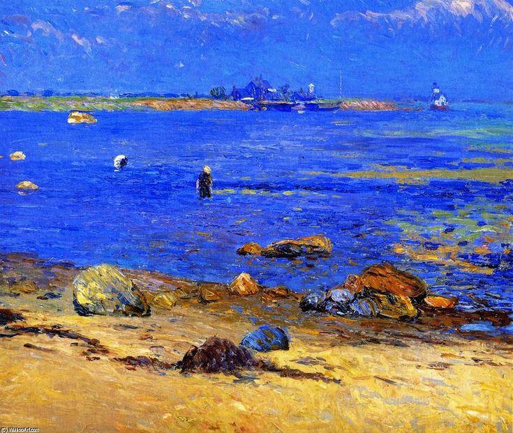 Treading Calme, Wickford, huile sur toile de William James Glackens (1870-1938, United States)