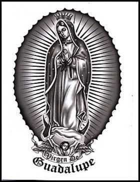 Temporary Tattoos and Fake Tattoos Virgen De Guadalupe