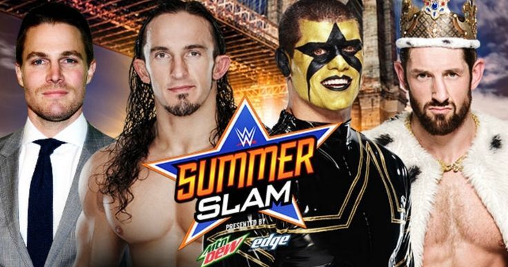 'Arrow' Heading to SummerSlam; Watch Stephen Amell on 'WWE Raw' -- Stephen Amell and Neville are gearing up to take on Stardust and Barrett at this year's Summer Slam, but will 'Arrow' show up? -- http://movieweb.com/summerslam-2015-arrow-stephen-amell-wwe-raw-monday/