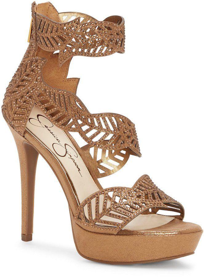 Jessica Simpson Bonilynn Metallic Hotifx Platform Dress Sandals