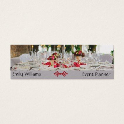 Event planner wedding organizer  catering supplies mini business card - party gifts gift ideas diy customize