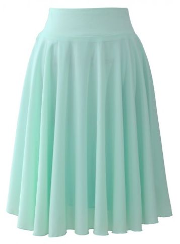 mint pleated skirt  http://rstyle.me/n/nm77npdpe