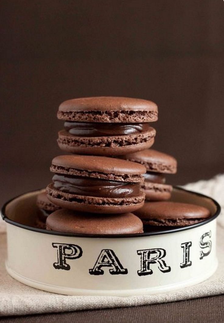 French Chocolate Macarons with Chocolate Ganache Recipe