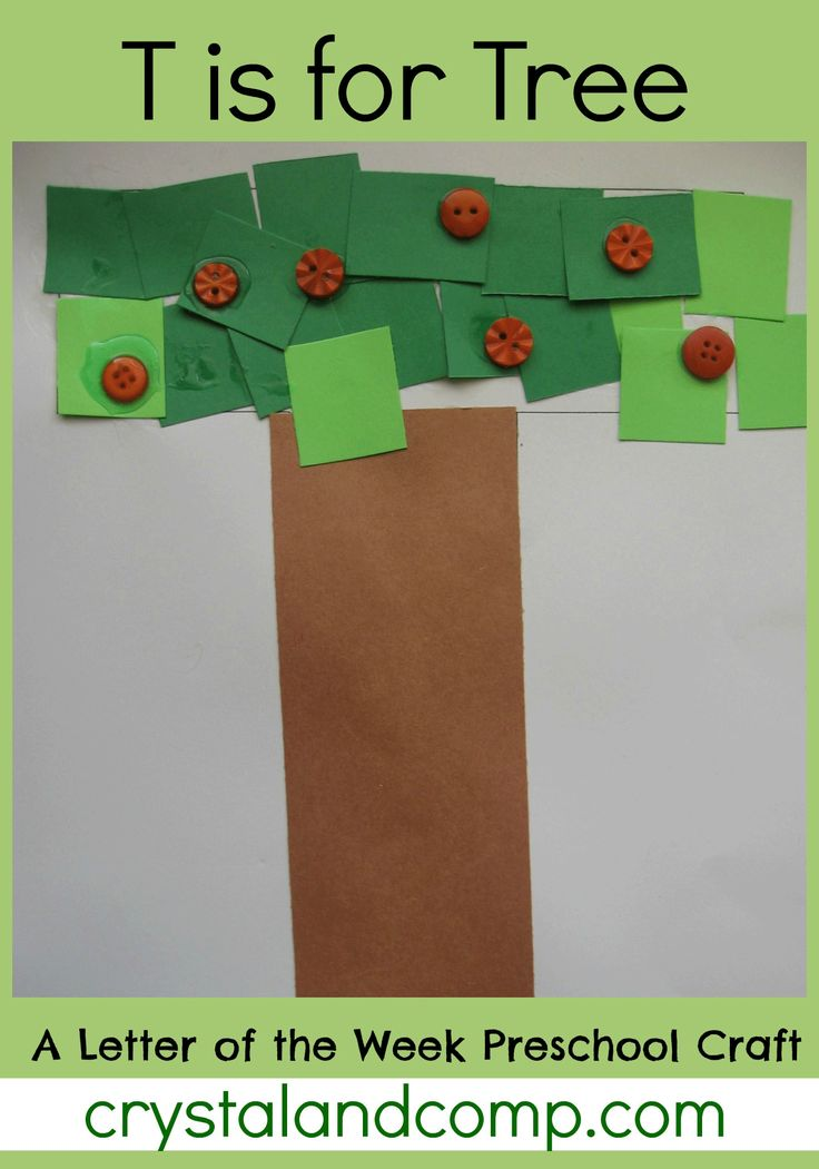 Letter of the Week Preschool Craft for T