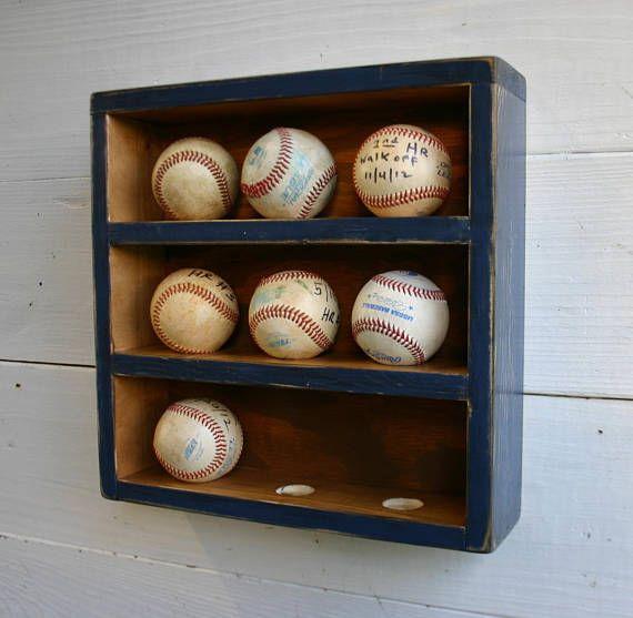 Baseball Wall Organizer Baseball Rack Baseball Holder Ball Etsy In 2020 Baseball Wall Baseball Holder Wall Organization