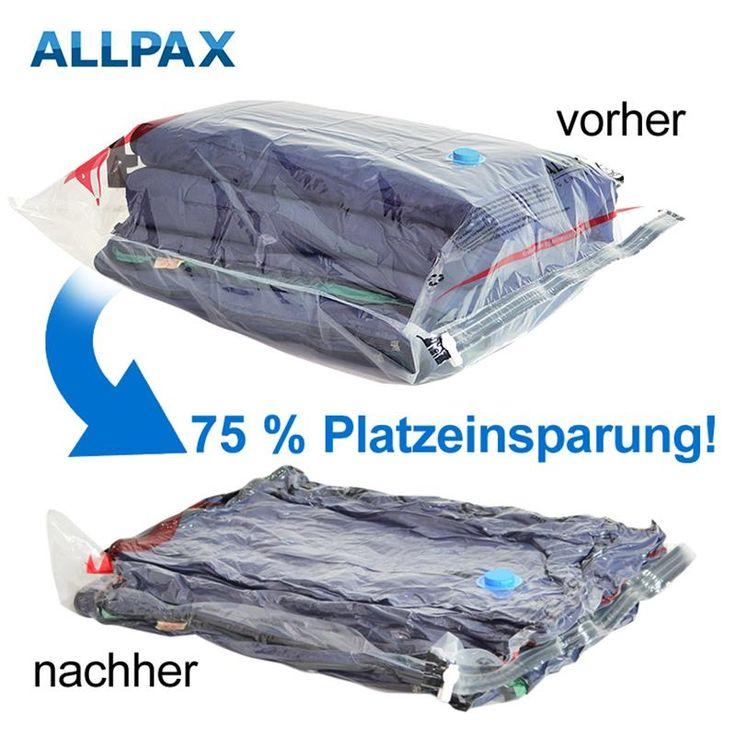 Vakuumbeutel 50 x 70 cm, mit Ventil für Staubsauger - Doppelpack