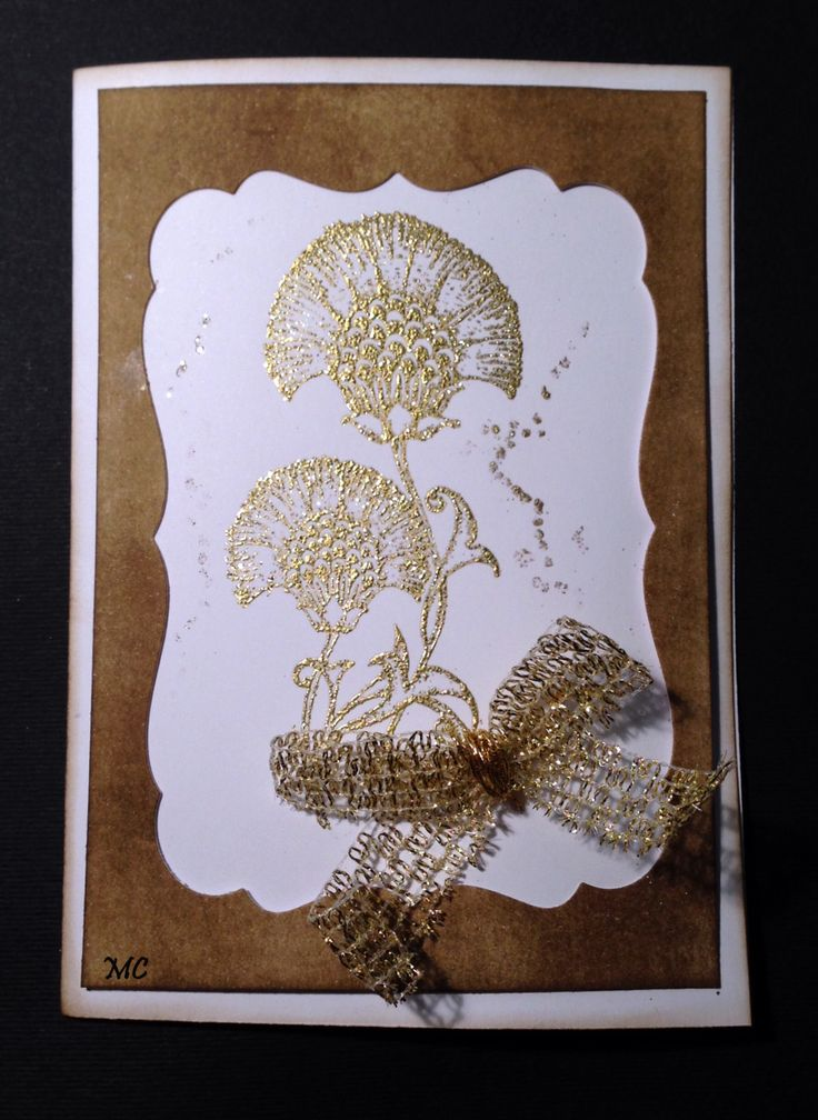 Chocolate Baroque - Floral Notes rubber stamp sheet