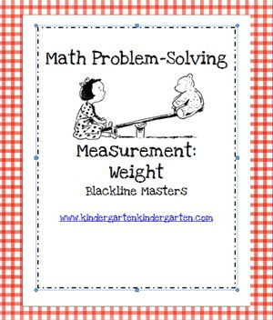Here's a great packet of resources for measuring weight. Good for K and 1. (Scroll to bottom of page to find it!)