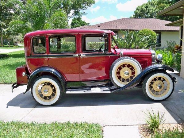 1930 Ford Model A Super Deluxe 4 Door 3 Three Window Sedan