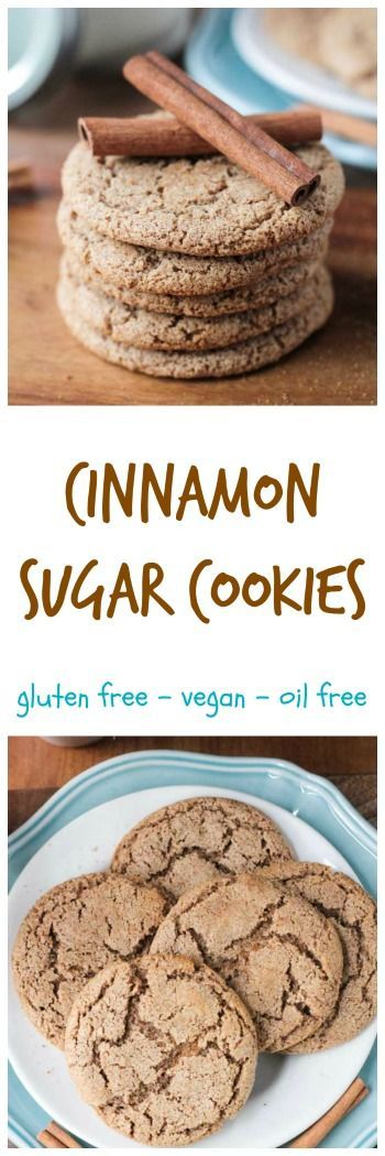 Cinnamon Sugar Cookies - vegan | gluten free | dairy free | oil free | chewy | crispy | quick and easy | 15 minute recipe | christmas | dessert | holiday | snickerdoodle |
