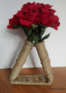 Centomilaidee: Vaso ricicloso con cartone e corda