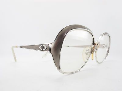 Vintage 70s Christian Dior Eyeglasses Frames Silver Metallic Mod 2132 52 26   eBay