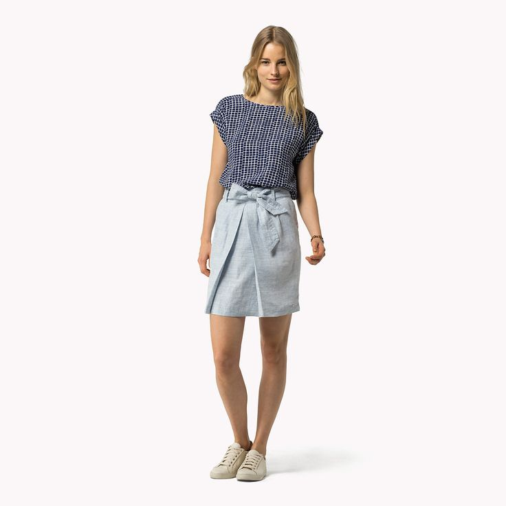 Shoppen Sie Leinenrock und erkunden Sie die Tommy Hilfiger Kleidung für Damen…
