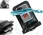 http://www.satelectronics.co.za/ProductDescription.aspx?id=2351296 Promate snugMate.M 100% Waterproof slim-fit case with Headphones for Mobile Devices.  Price: R 379.00