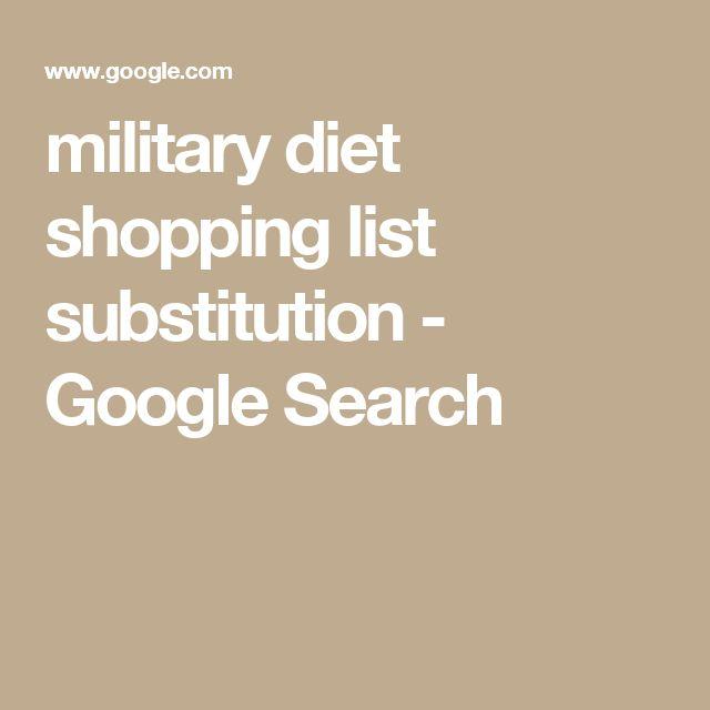 military diet substitution list pdf