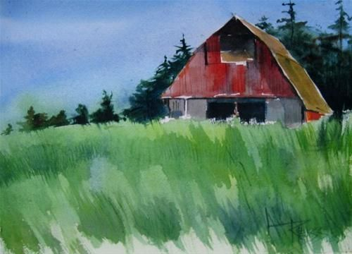 14 best images about whidbey island art on pinterest for Watercolor barn paintings