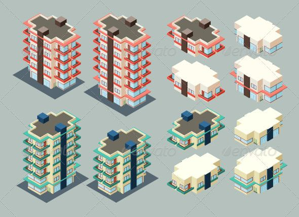 Isometric Building  #GraphicRiver         pre-assembled isometric building/apartment, its height is easily customize     Created: 23July13 GraphicsFilesIncluded: TransparentPNG #JPGImage #VectorEPS Layered: No MinimumAdobeCSVersion: CS Tags: apartment #architecture #building #cartoon #city #construction #exterior #hotel #illustration #isometric #modern #property #public #realestate #skyscraper #structure #town #urban
