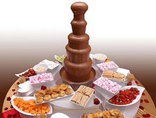 """Sweet"" chocolate fountain bar"