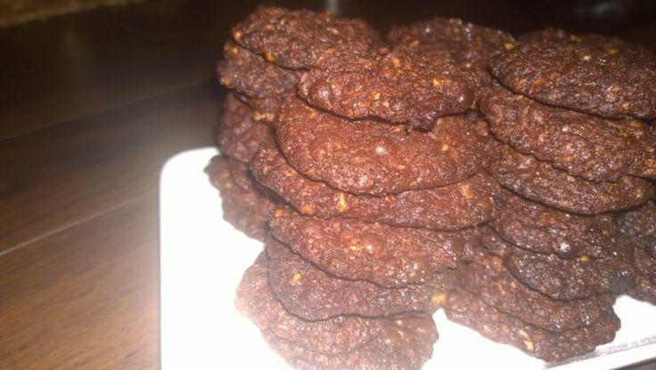 Chocolate, walnut cookies for breakfast