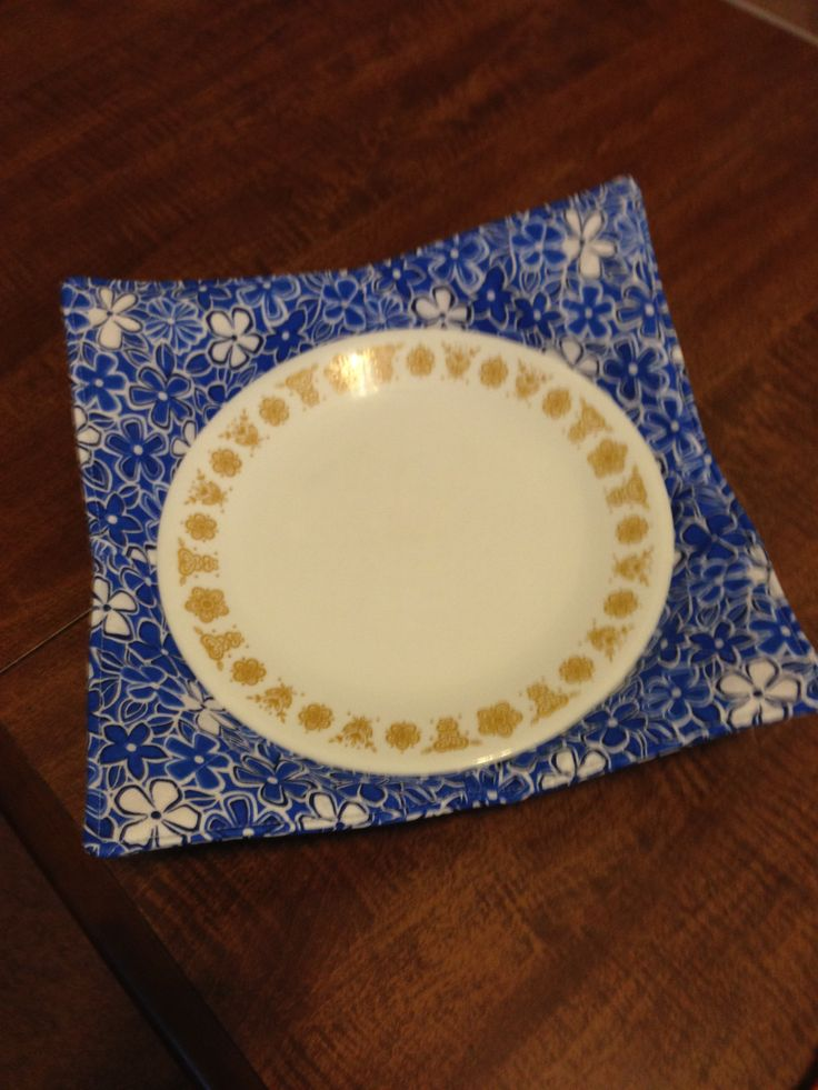 Microwave Plate Cozy Made By Me Pinterest Microwaves