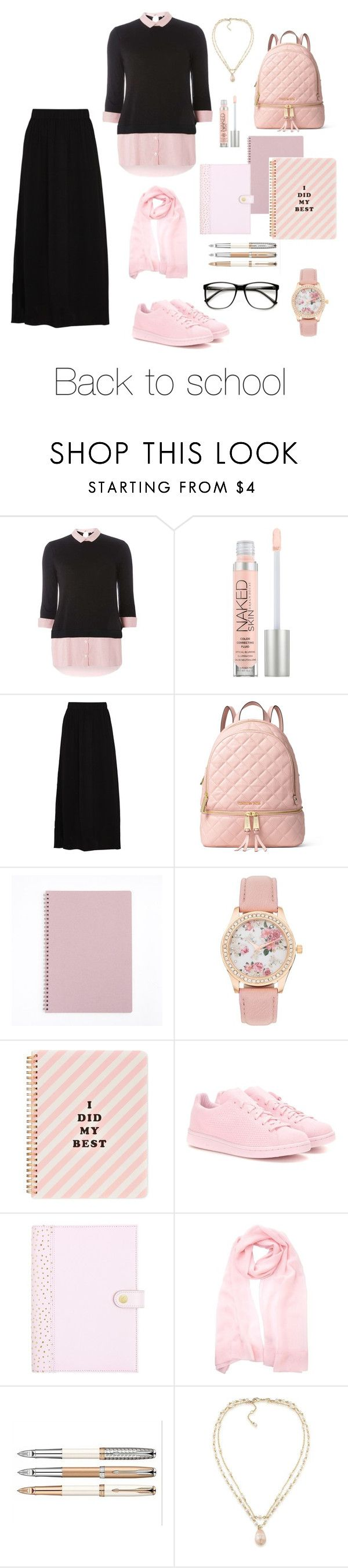 """Back to #School"" by modestandelegant ❤ liked on Polyvore featuring Dorothy Perkins, Urban Decay, American Vintage, MICHAEL Michael Kors, ban.do, adidas Originals, Carolee, ZeroUV, BackToSchool and school"