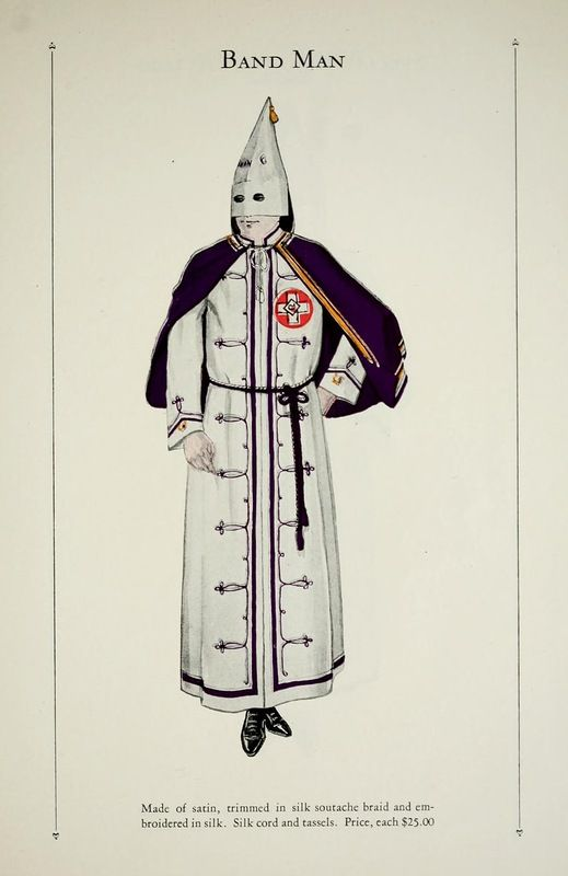Actual Ku Klux Klan clothes catalog from 1925. Crazy!!!