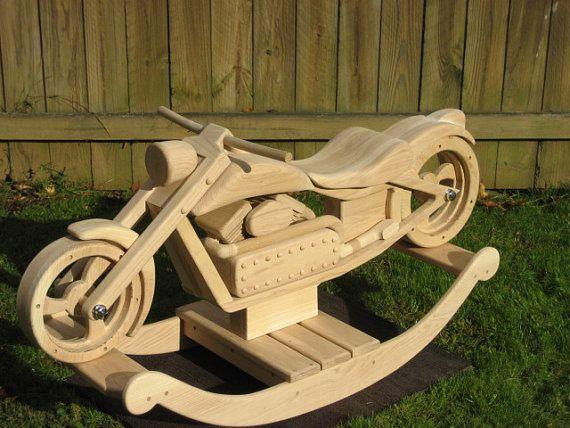 Chace the chopper custom designed wooden motorcycle for Woodworking plan for motorcycle rocker toy