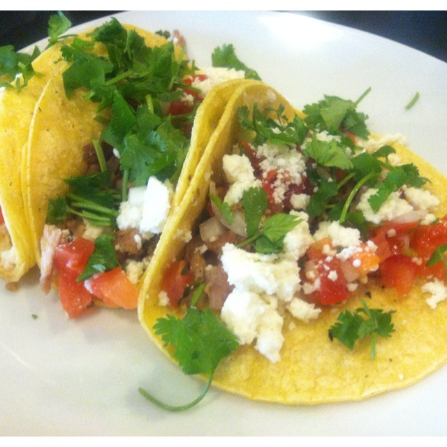 Three tacos Al Pastor available at the newly opened Olfactory Hue Bistro located in downtown Niles MI