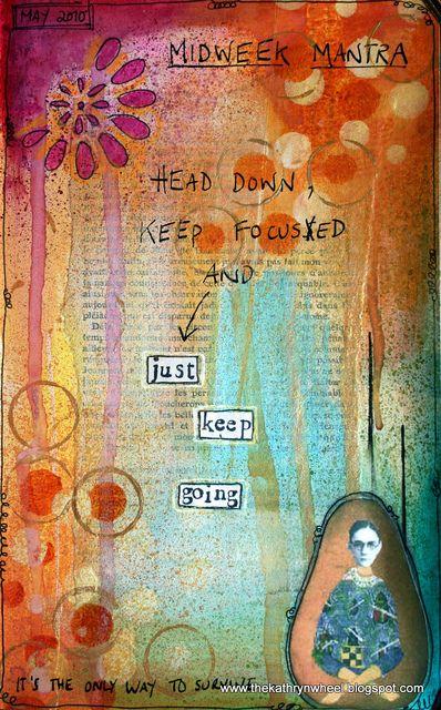 message background art journal