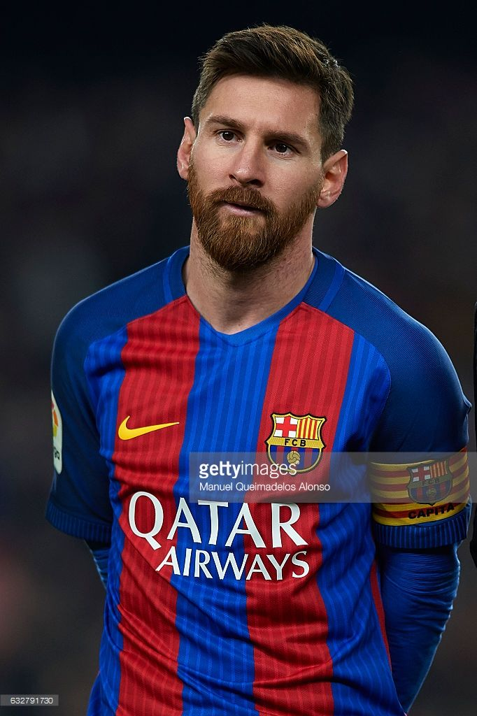 Lionel Messi of Barcelona looks on prior to the Copa del Rey quarter-final second leg match between FC Barcelona and Real Sociedad at Camp Nou on January 26, 2017 in Barcelona, Spain.