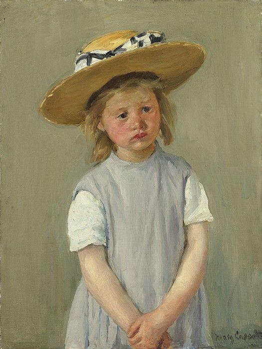 Кэссет, Мэри - Ребенок в соломенной шляпе. Около 1886. Холст, масло, 65.3 x 49.2 см. Национальная галерея искусств (Вашингтон)