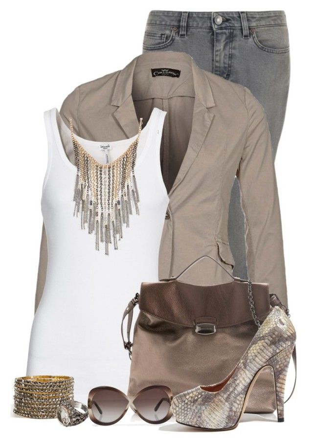 Gold and Silver by deniselanders on Polyvore featuring polyvore fashion style Splendid CIMARRON Dolce&Gabbana Vince Camuto Francesco Biasia R.J. Graziano Sandra Dini Tom Ford clothing