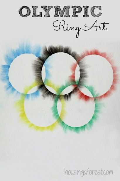 Olympic rings.  Simple art for kids