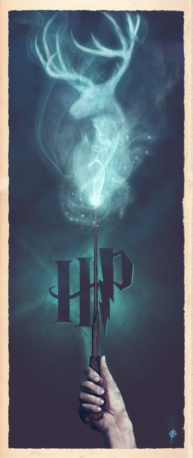 Harry's Stag Patronus (Expecto Patronum) by Ajay Naran would be cute to print as a bookmark