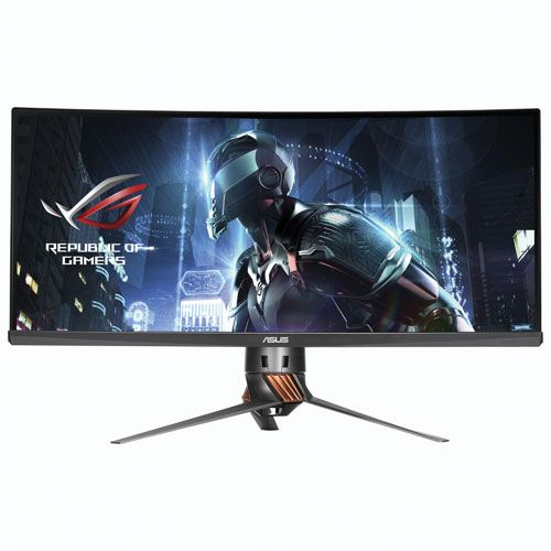 """Get the drop on your competition with the ASUS 34"""" ROG Swift curved gaming monitor. Precision crafted to give you the ultimate competitive edge, it features an eye-popping 3440 x 1440 QHD resolution, easy-access hot keys to unlock... Free shipping on orders over $25."""